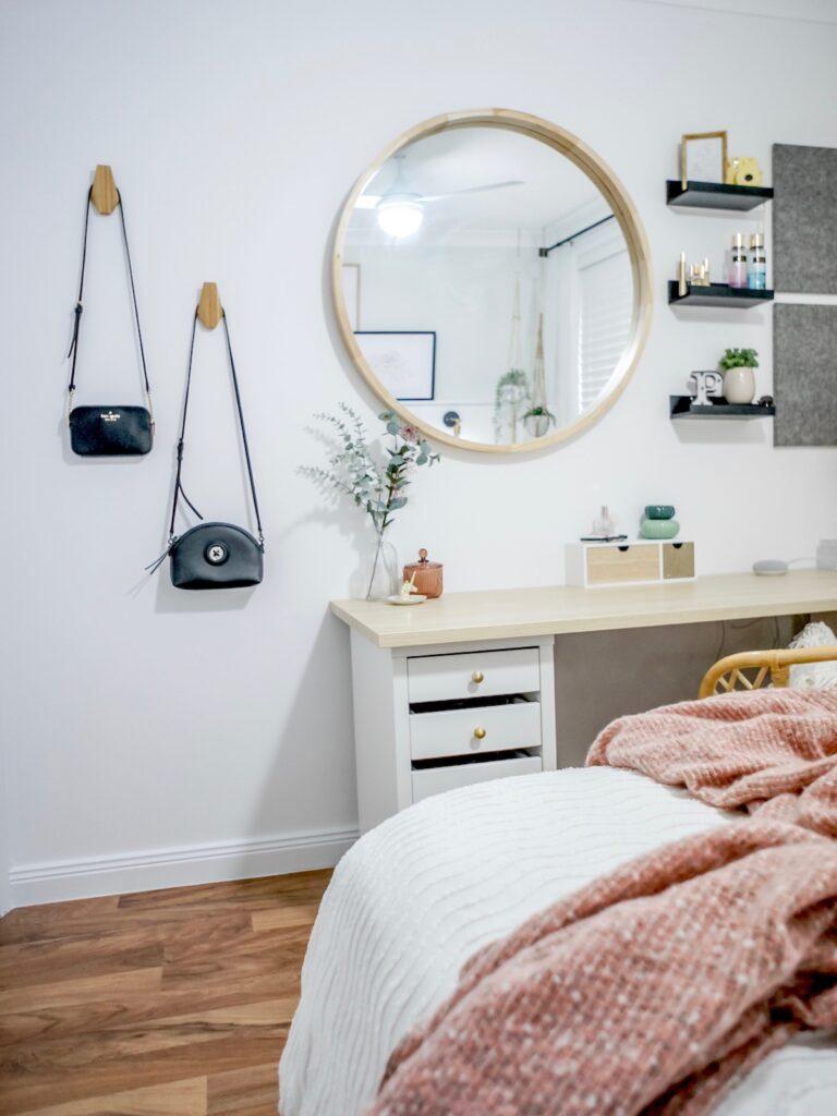 scandi-boho-bedroom-interior-decorating-study-desk-sydney